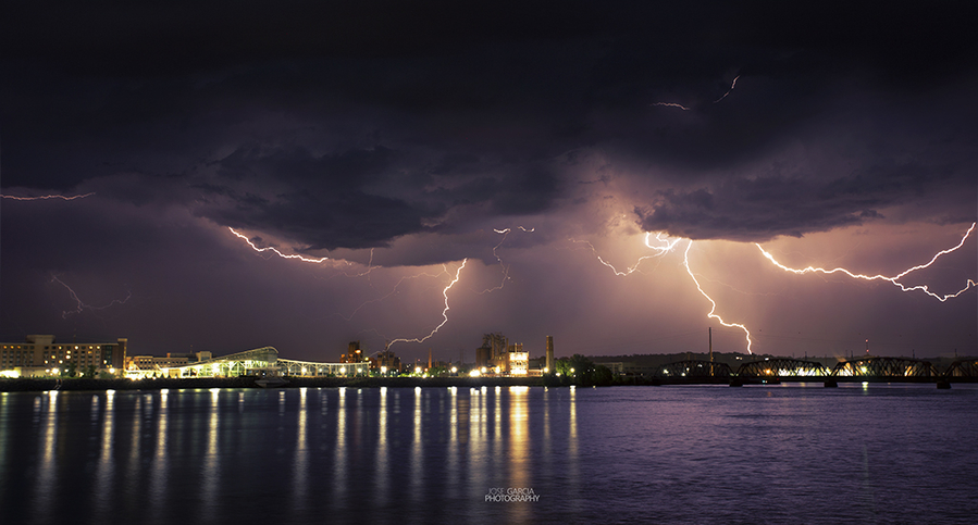 Thunderstorm over the Mississippi River